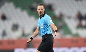 Árbitro holandês Danny Makkelie nomeado para o Sérvia-Portugal de qualificação para o Mundial2022