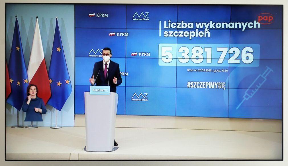 Covid-19: Polónia anuncia endurecimento das restrições no país