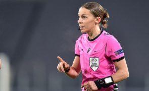 Mundial2022: Stéphanie Frappart será a primeira mulher a arbitrar um jogo de qualificação