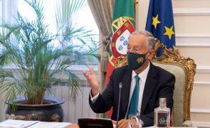 Covid-19: Marcelo decreta renovação do estado de emergência até 15 de abril