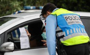Covid-19: PSP reforça fiscalização na via pública durante Operação