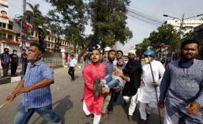 Novas manifestações contra PM indiano fazem mais cinco mortos no Bangladesh