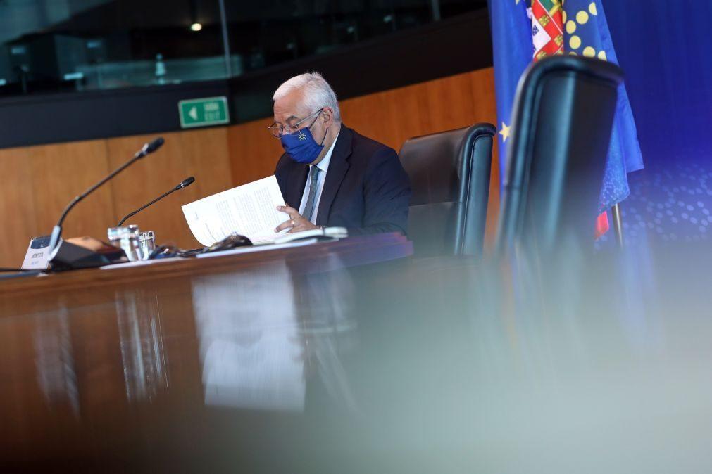 Covid-19: Costa afasta crise política e diz que mensagem do PR sobre promulgação é rica e inovadora