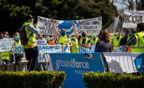 Groundforce tem salários de abril assegurados e estima prejuízo de 15 ME este ano - Trabalhadores