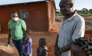 Moçambique: Deslocados enganam a fome com folhas de feijão e sal