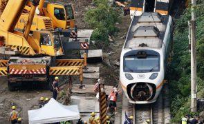 Autoridades interrogam dono de veículo na origem do acidente de comboio em Taiwan