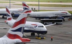 Covid-19: Companhias britânicas pedem fim de restrições nos voos internacionais