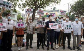 Manifestação de apoio à liberdade de imprensa em Macau acaba em críticas ao Governo
