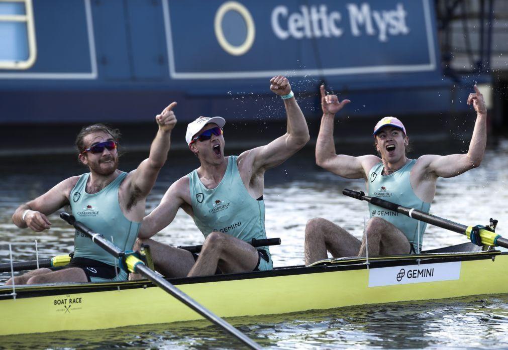 Cambridge repete triunfos na regata histórica frente a Oxford