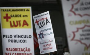 Sindicatos manifestam-se em defesa do reforço do SNS