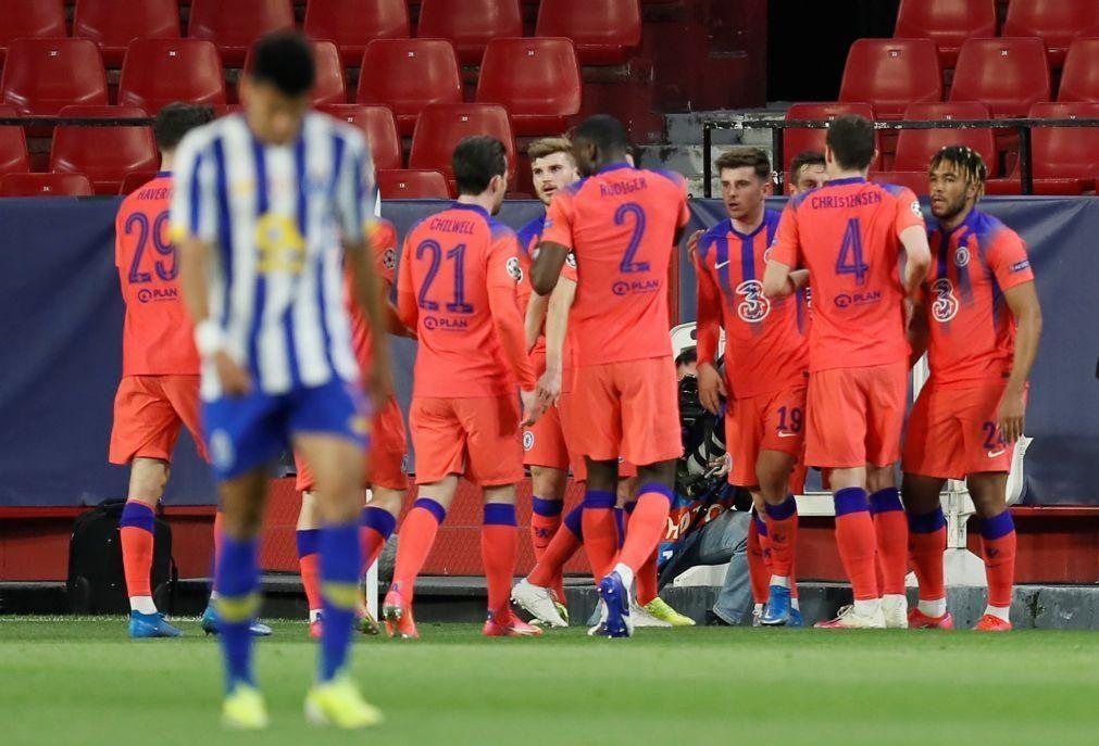 FC Porto perde por 2-0 com Chelsea na primeira mão dos 'quartos' da 'Champions'