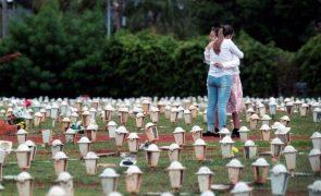 Covid-19: Brasil supera 340 mil mortes após registar 3.829 óbitos em 24 horas