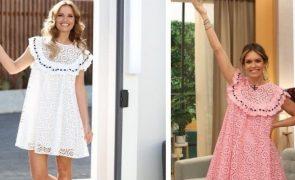 Cristina Ferreira e Diana Chaves apanhadas a usar vestido igual
