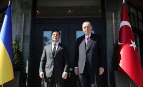 Presidentes da Turquia e da Ucrânia discutem