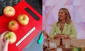 Inês Gutierrez ensina como fazer crumble de maçã saudável