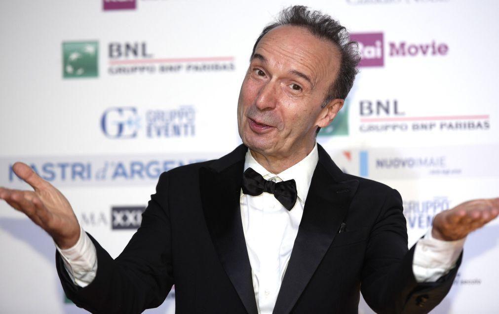 Ator e realizador Roberto Benigni recebe Leão de Ouro de carreira em Veneza