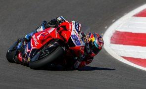 MotoGP/Portugal: Piloto Jorge Martin transportado ao hospital com contusões