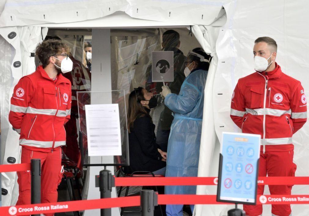 Covid-19: Itália regista 15.370 novos casos e 310 mortos nas últimas 24 horas