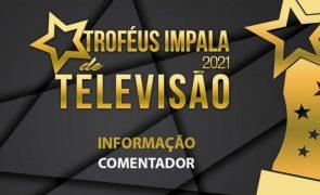 Troféus Impala de Televisão 2021: Nomeações na categoria de Melhor Comentador
