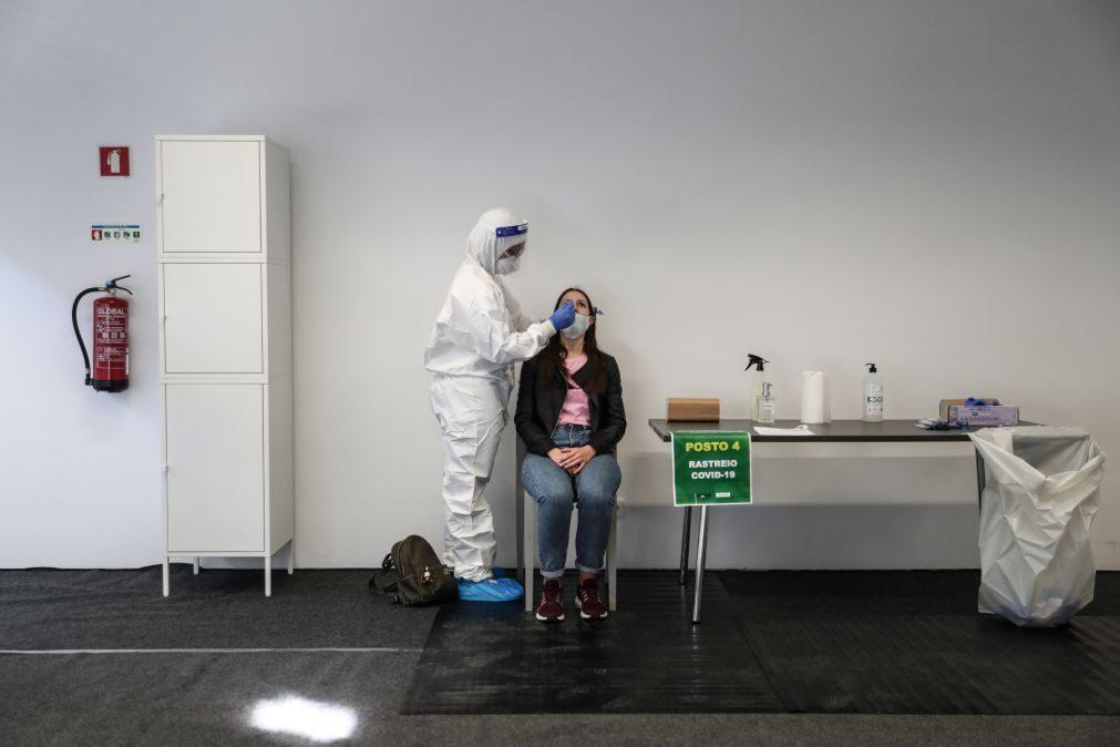 Covid-19: Cerca de mil pessoas testadas em dia de arranque na Universidade Nova