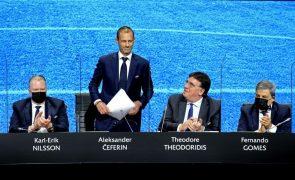 Superliga: Presidente da UEFA saúda desistência do Manchester City