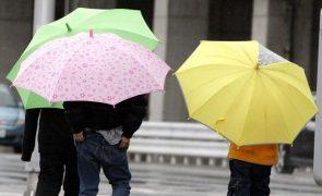 Quatro distritos do continente e Açores sob aviso amarelo devido à chuva