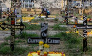 Covid-19: Índia bate recorde com mais de dois mil mortos e quase 300 mil casos num dia