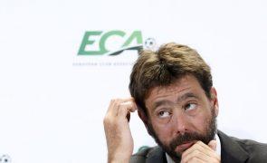Superliga: Presidente da Juventus admite que projeto não tem condições para avançar