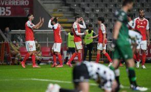 Sporting de Braga vence Boavista e sobe provisoriamente ao terceiro lugar