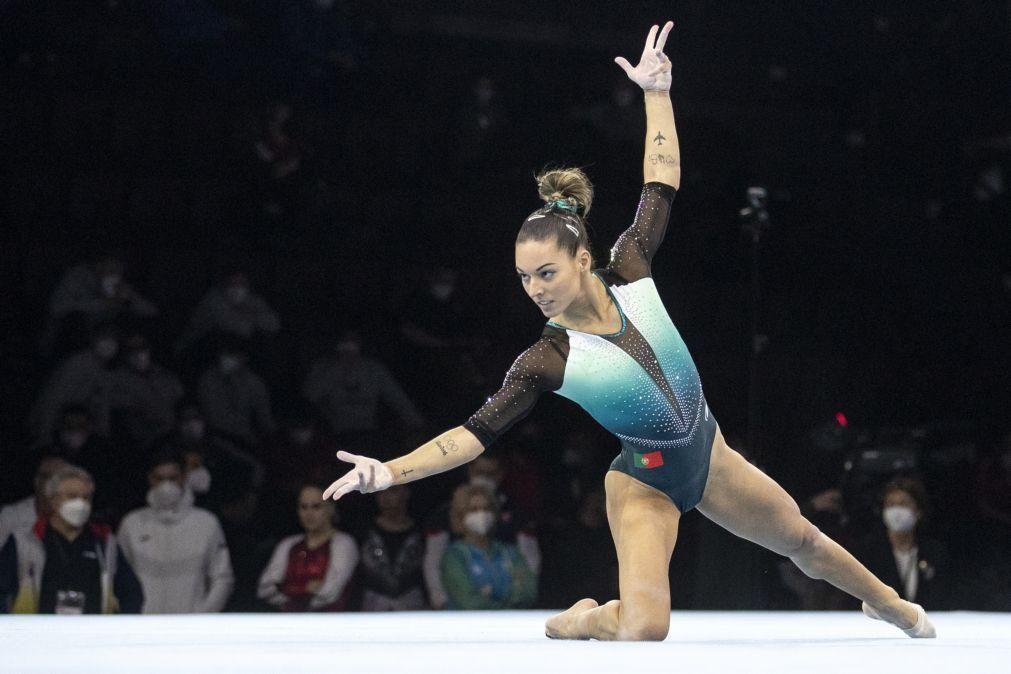 Filipa Martins fecha em oitavo barras assimétricas nos Europeus de ginástica