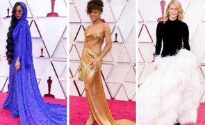 Óscares 2021: Os looks que deslumbraram na passadeira vermelha