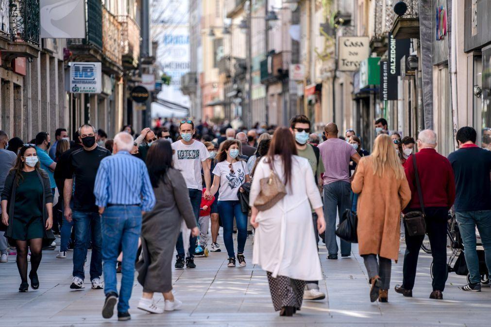 Covid-19: Índice de transmissibilidade (Rt) em Portugal sobe e incidência desce