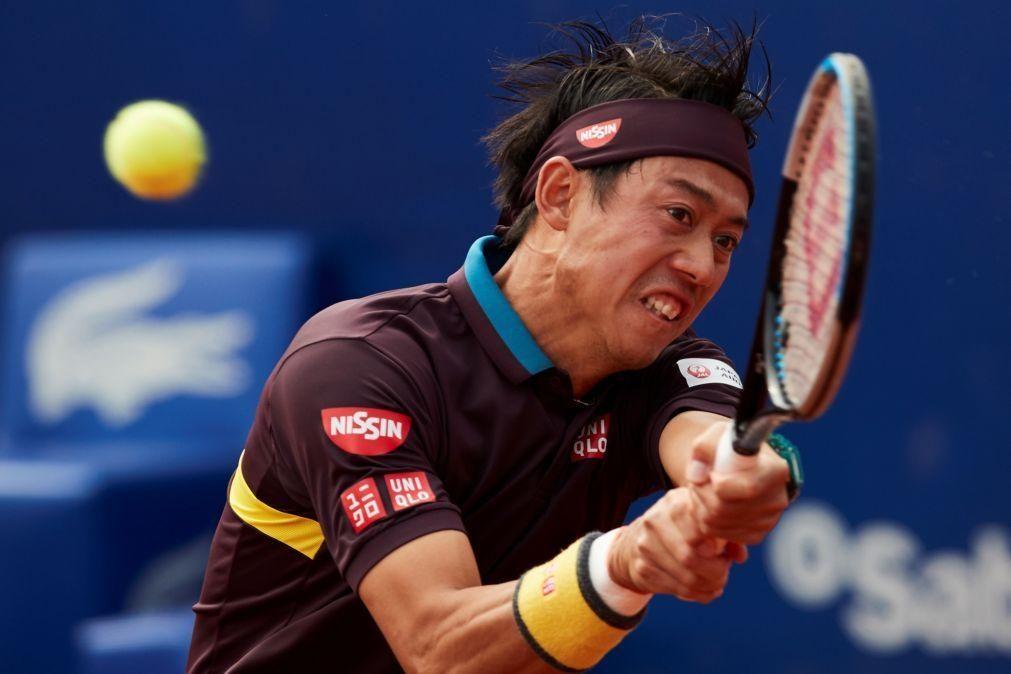 Kei Nishikori contrai lesão e desiste do Estoril Open