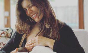 Andreia Rodrigues mostra momento íntimo após o parto