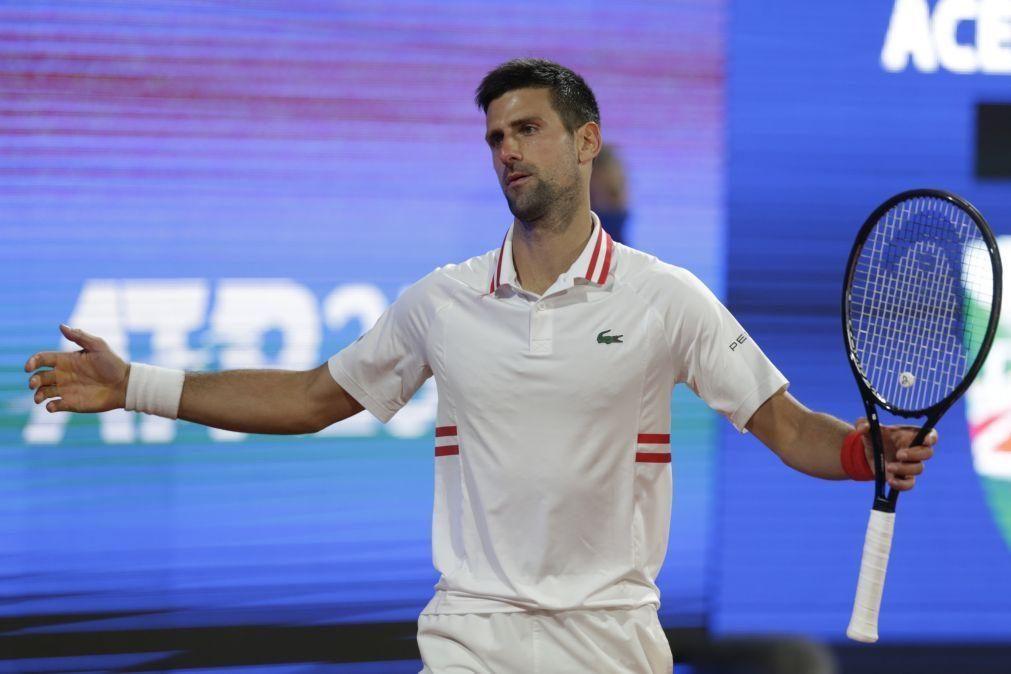 Novak Djokovic desiste de jogar o Masters 1.000 de Madrid em ténis