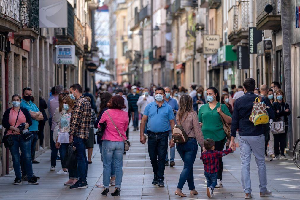 Covid-19: Índice de transmissibilidade (Rt) em Portugal sobe para 1