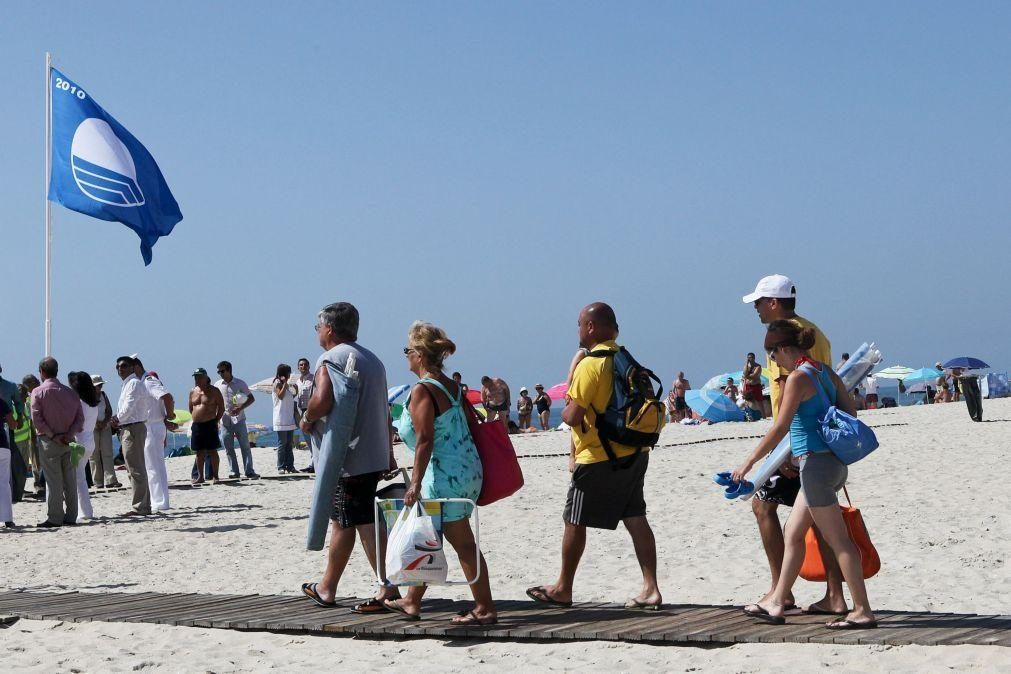 Portugal tem mais 12 praias com Bandeira Azul do que em 2020