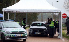 Covid-19: Mais de 1,1 milhão de pessoas controladas na fronteira com Espanha em três meses