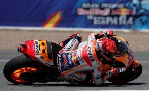 Marc Marquez sofre queda na terceira sessão de treinos livres para GP de Espanha
