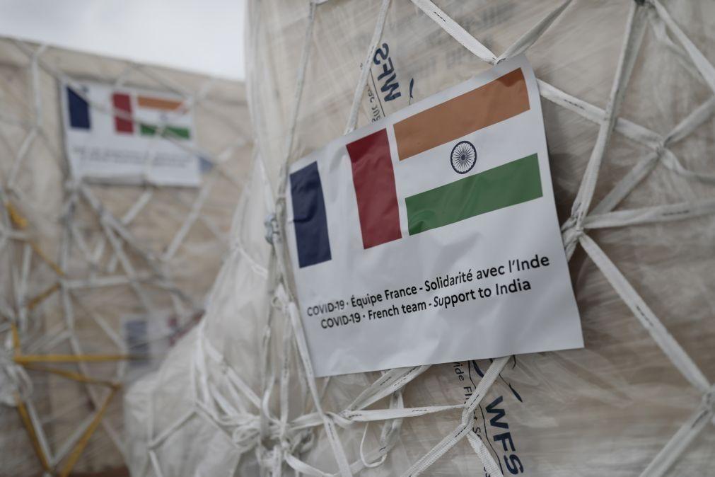 Covid-19: Índia recebe 28 toneladas de ajuda médica proveniente da França