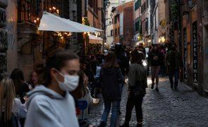 Covid-19: Itália com 5.948 casos num dia, registo mais baixo desde outubro