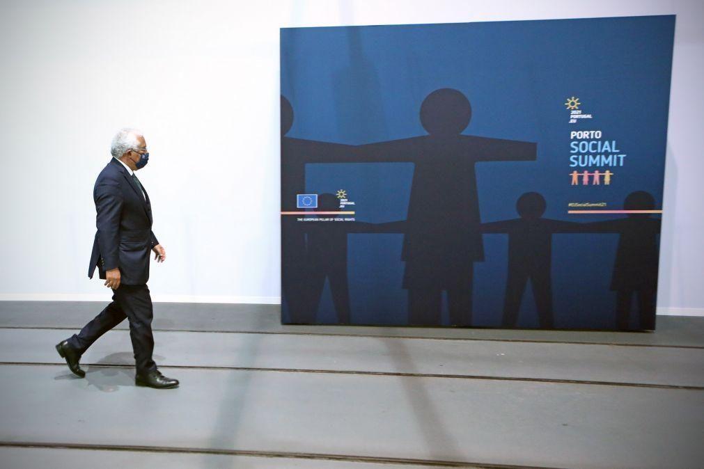 Cimeira Social: É o mais abrangente e ambicioso compromisso alguma vez alcançado na UE - Costa