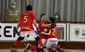 Benfica com arranque avassalador vence FC Porto nas 'meias' do Nacional de hóquei