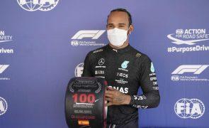 Lewis Hamilton conquista 100.ª 'pole position' na F1 no GP de Espanha