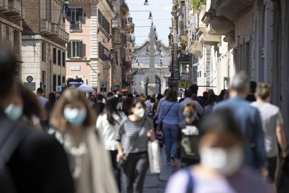 Covid-19: Itália regista hoje 10.176 novas infeções e 224 mortos