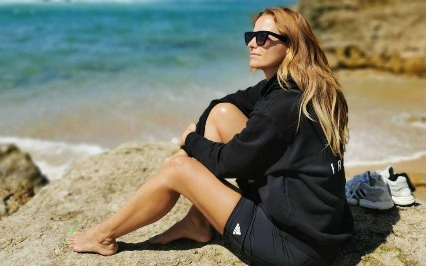 Cristina Ferreira Atira-se ao mar da Ericeira: