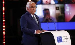 UE/Presidência: Costa evoca Camões para justificar Conferência sobre o Futuro da Europa