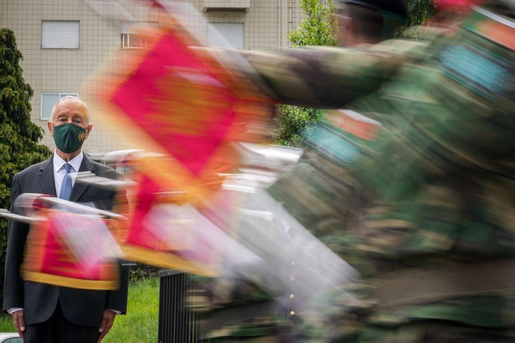 PR manifesta orgulho nas Forças Armadas e agradece a sua ação no país e lá fora