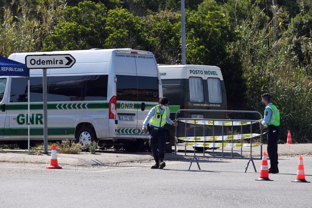 Covid-19: GNR barra 196 trabalhadores na cerca sanitária em Odemira