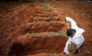 Covid-19: Mais 889 mortos e 25.200 casos em 24 horas no Brasil